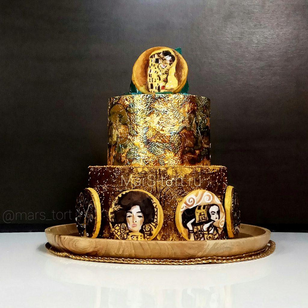 Торт Климт с расписными пряниками